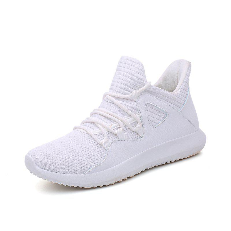 Chic Men Flying Woven Mesh Lightweight Breathable Casual Sports Running Shoes