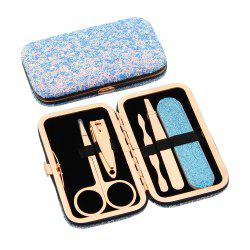 Maketop High Quality Glittering Travel Women's Manicure  Pedicure Set -