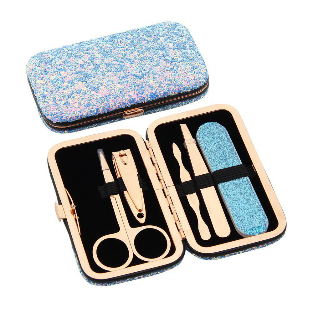 Affordable Maketop High Quality Glittering Travel Women's Manicure  Pedicure Set