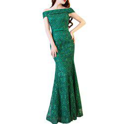 Ladies Evening Party Sexy Slim Cocktail Party Fishtail Long Dress -