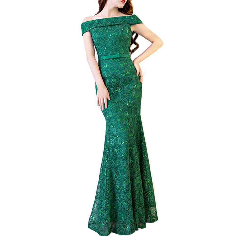 Affordable Ladies Evening Party Sexy Slim Cocktail Party Fishtail Long Dress