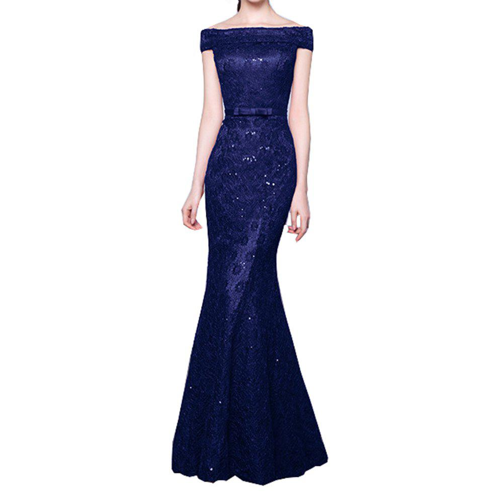 Fancy Ladies Evening Party Sexy Slim Cocktail Party Fishtail Long Dress