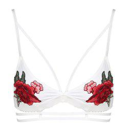 MISSOMO Fashion Sexy Rose Embroidered Suspender Stretch Bodice -