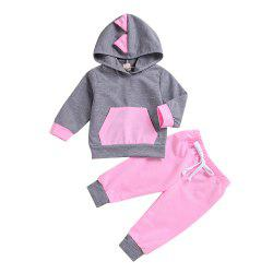 New SUN 9C High Quality New Dinosaur Sweater + Pink Trousers Two Piece -