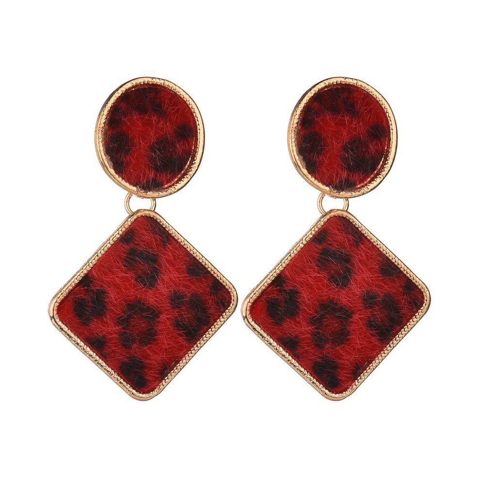 Cheap Creative Exaggerated Leopard Earrings