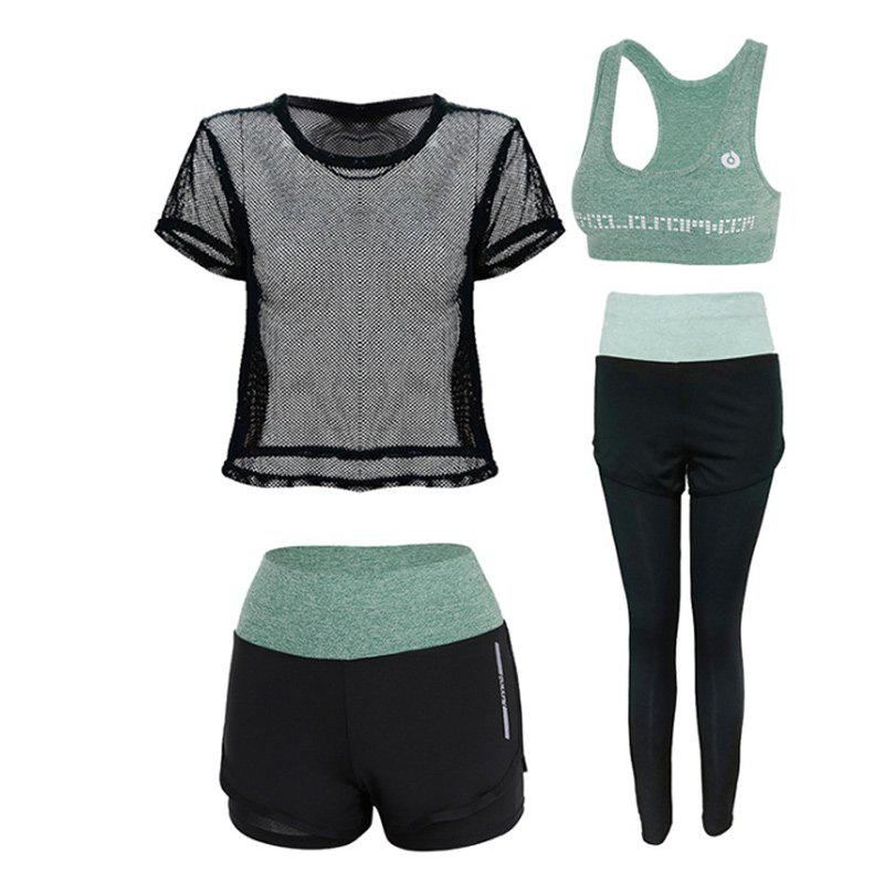 Sale Outdoor Sports Running Fitness Short-Sleeved Four-Piece Suit