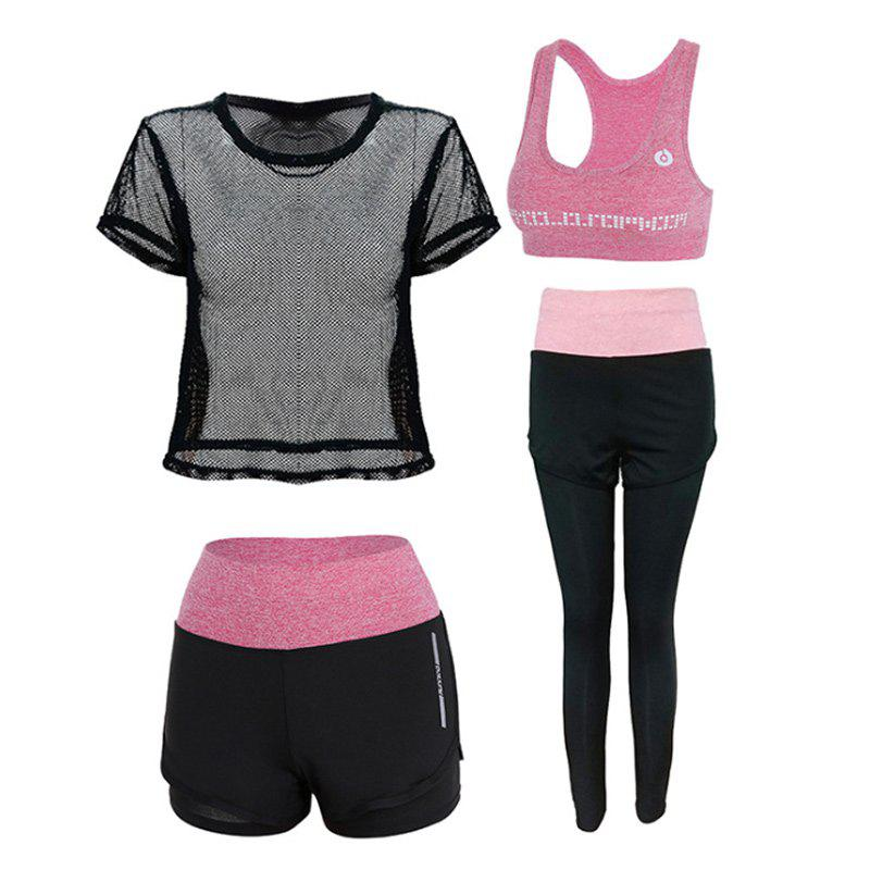 Buy Outdoor Sports Running Fitness Short-Sleeved Four-Piece Suit