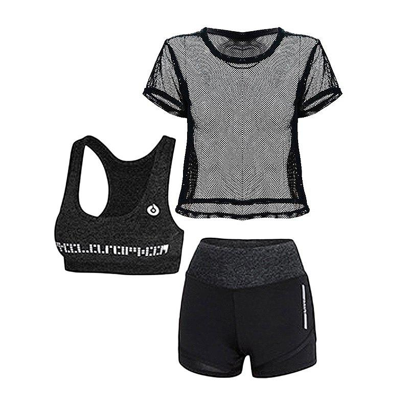 Trendy 3 Pcs Women's Sports Set Clothing