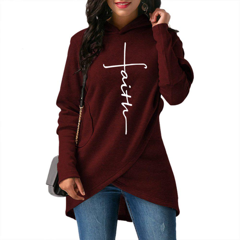 Fashion 2018 New Fashion Faith Print Kawaii Sweatshirt Femmes Sweatshirts Hoodies Women