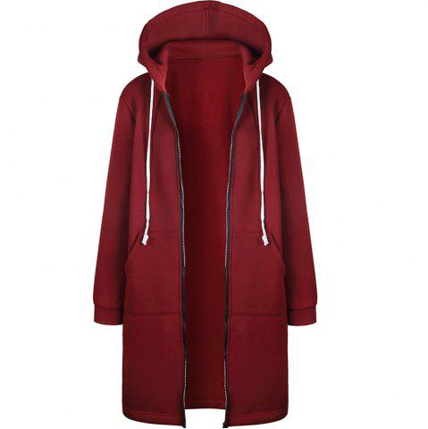Autumn Winter Coat Women 2018 Fashion Casual Long Zipper Hooded Jacket Hoodies
