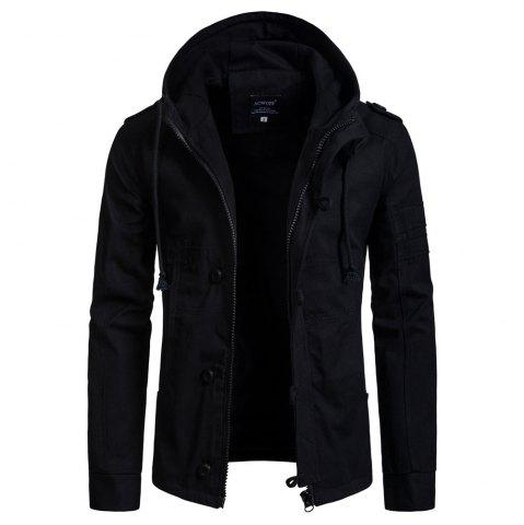 2018 Autumn and Winter New Men'S Hooded Cardigan Jacket