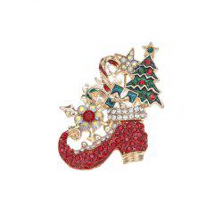Beautiful cute Christmas Day pop cartoon Christmas tree brooch -