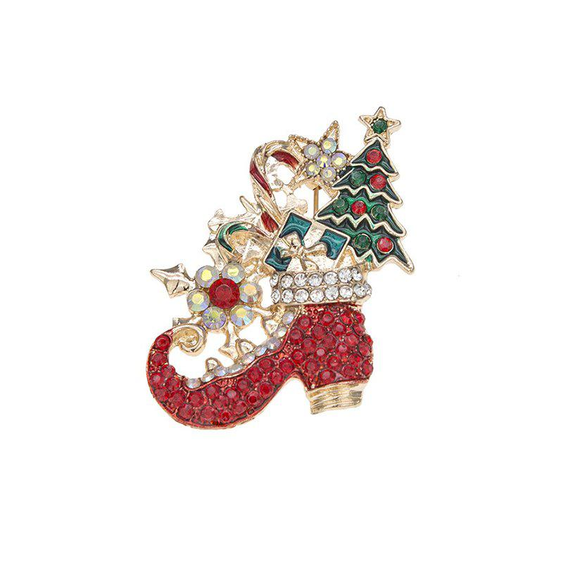 Best Beautiful cute Christmas Day pop cartoon Christmas tree brooch