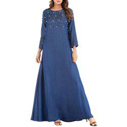 Women Loose and Comfortable Long Dress with Beading -