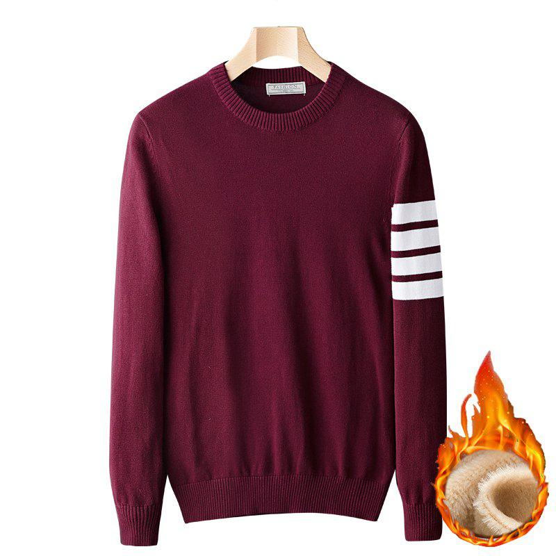 Trendy Casual Men's Plus Cashmere Warm Round Neck Pullover Sweater