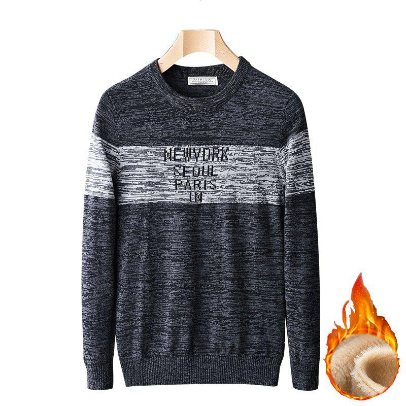 Discount Casual Plus Cashmere Warm Round Neck Pullover Sweater