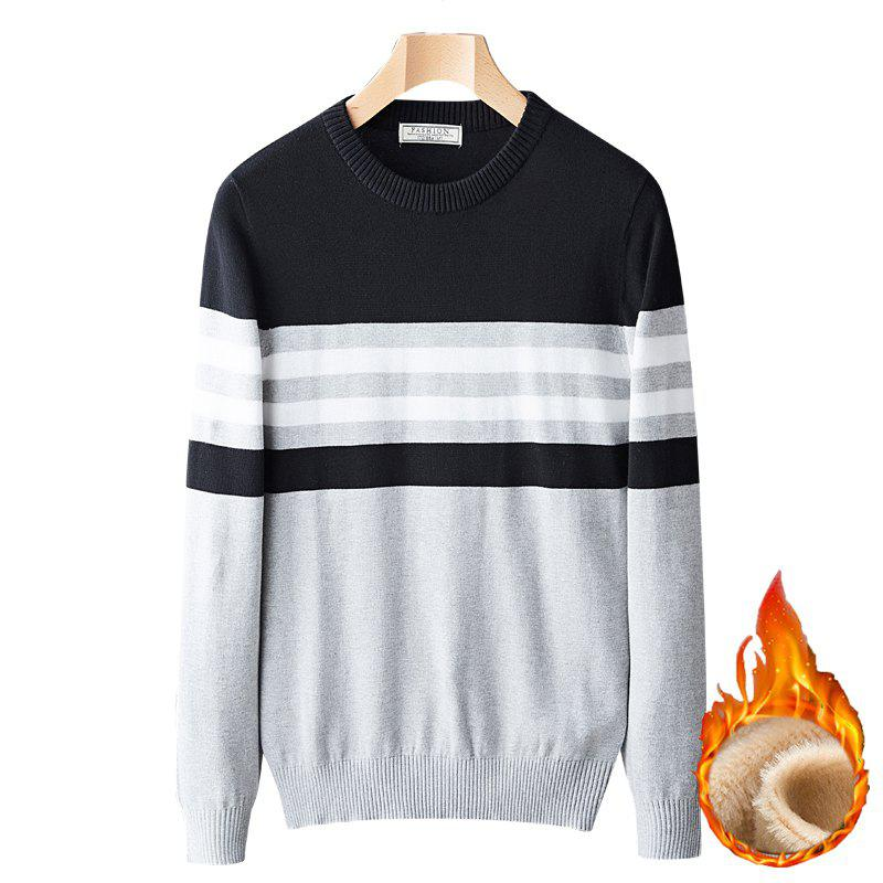 Affordable Casual Fashion Plus Cashmere Windproof Warm Round Neck Pullover Knit Sweater