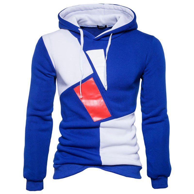 Shops New Man Fashion Patchwork Colors with Hooded Spring Autumn Winter Casual Hoodie