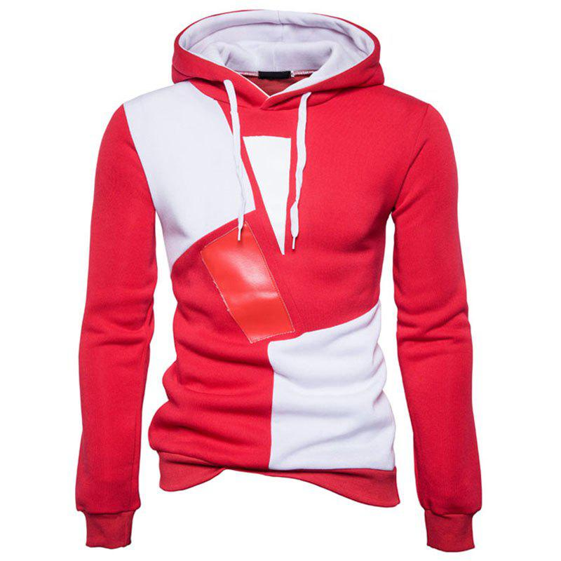 Best New Man Fashion Patchwork Colors with Hooded Spring Autumn Winter Casual Hoodie
