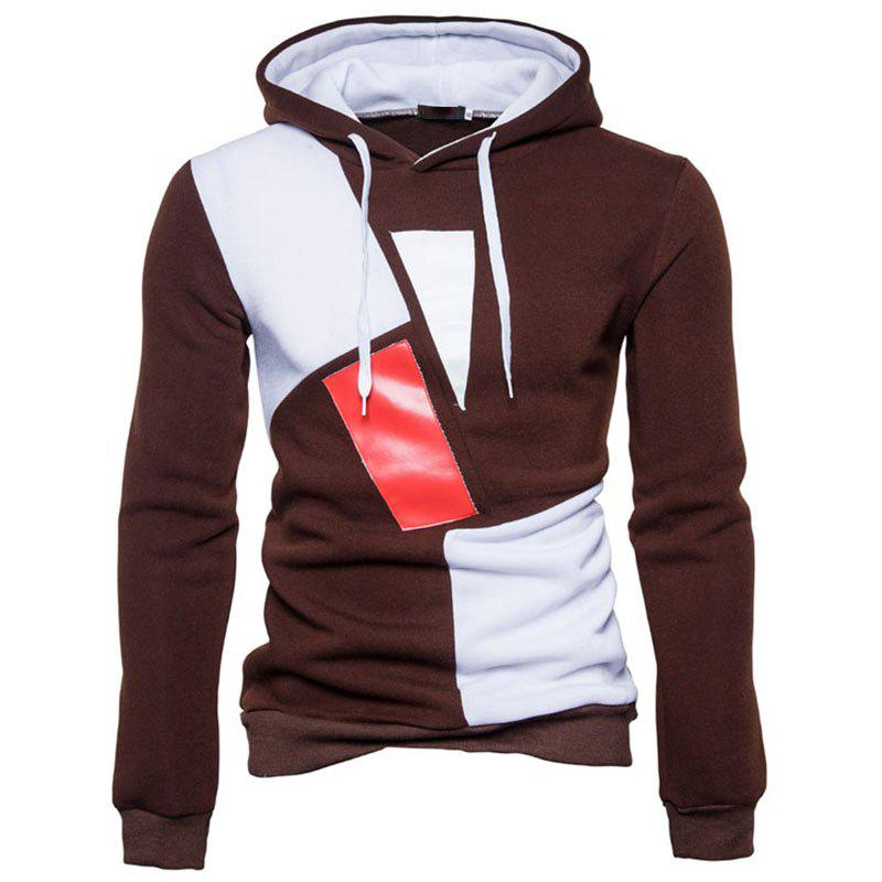 Sale New Man Fashion Patchwork Colors with Hooded Spring Autumn Winter Casual Hoodie