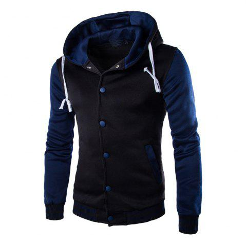 Casual Hooded Button Men's Sweater