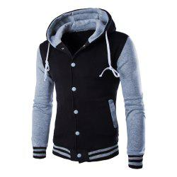 Casual Hooded Button Men's Sweater -