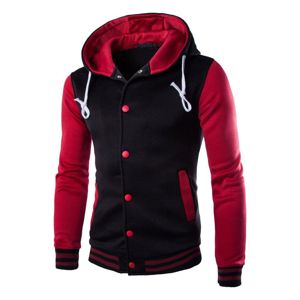 Hot Casual Hooded Button Men's Sweater