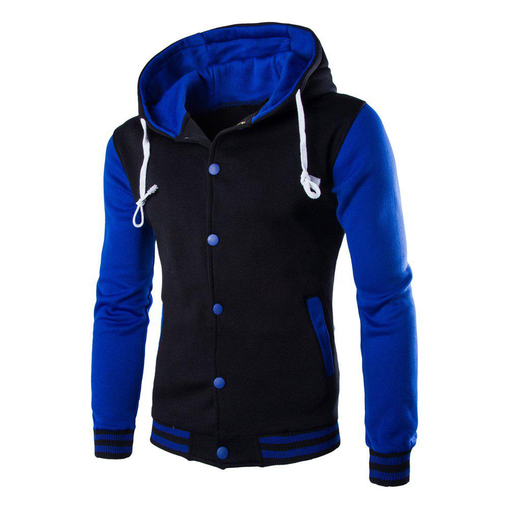 Fashion Casual Hooded Button Men's Sweater
