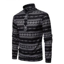 Christmas Snowflake Men's Sweater Pullover -