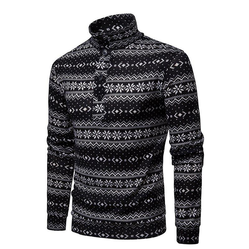 Outfit Christmas Snowflake Men's Sweater Pullover