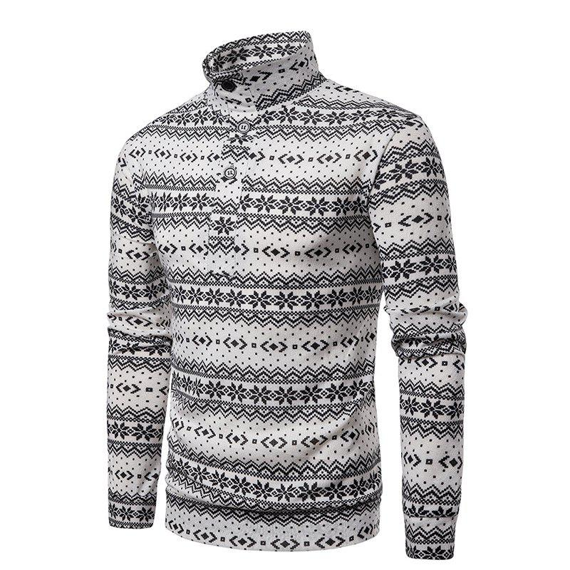 Sale Christmas Snowflake Men's Sweater Pullover