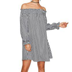 Autumn One-Shoulder Striped Long-Sleeved Women's Dress -