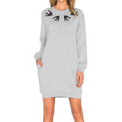 Autumn Long-Sleeved Loose Printed Women's Dress -
