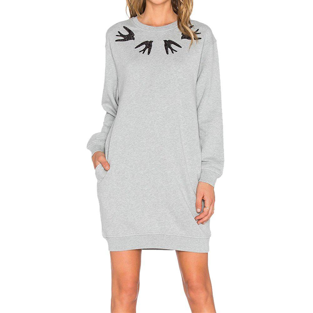 Trendy Autumn Long-Sleeved Loose Printed Women's Dress