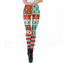 Christmas Costumes Santa Clothes Women Printing Leggings -