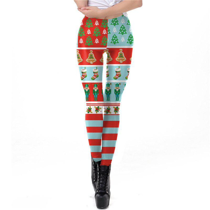 Online Christmas Costumes Santa Clothes Women Printing Leggings