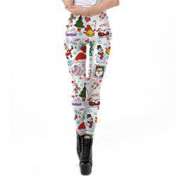 Christmas Costume Santa Claus Print Decoration Sport Leggings for Women -