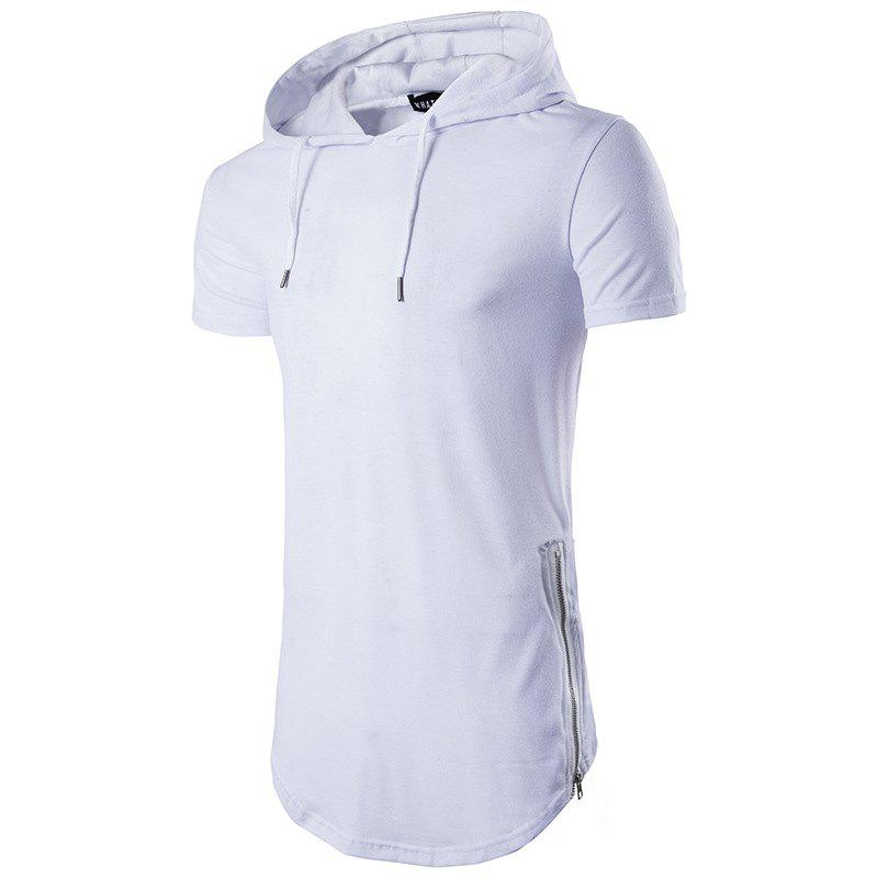 Shops Multi Colour Mens Slim Fit Hooded Shirt Short Sleeve Muscle Tee