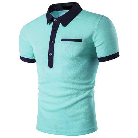 Shirt Men Clothing Simple Casual Patchwork Male Top Quality