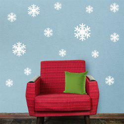 DIY White Snowflake Christmas Wall Stickers Window Glass Festival Decals -