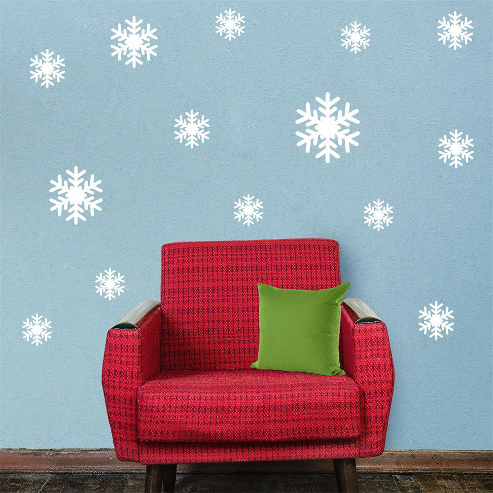 New DIY White Snowflake Christmas Wall Stickers Window Glass Festival Decals