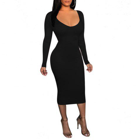 7efefc667700b Black Cut Out Club Dress - Free Shipping, Discount And Cheap Sale ...