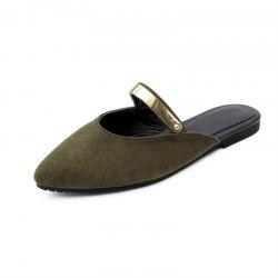 Summer Stylish Suede Metallic Sweet Cool Slippers -