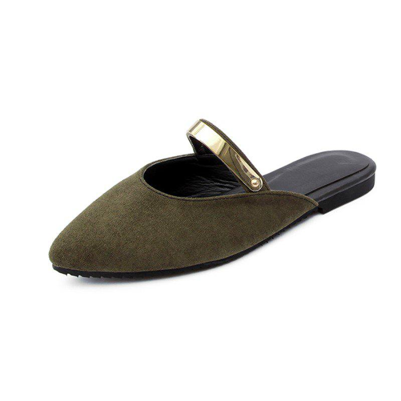 Sale Summer Stylish Suede Metallic Sweet Cool Slippers