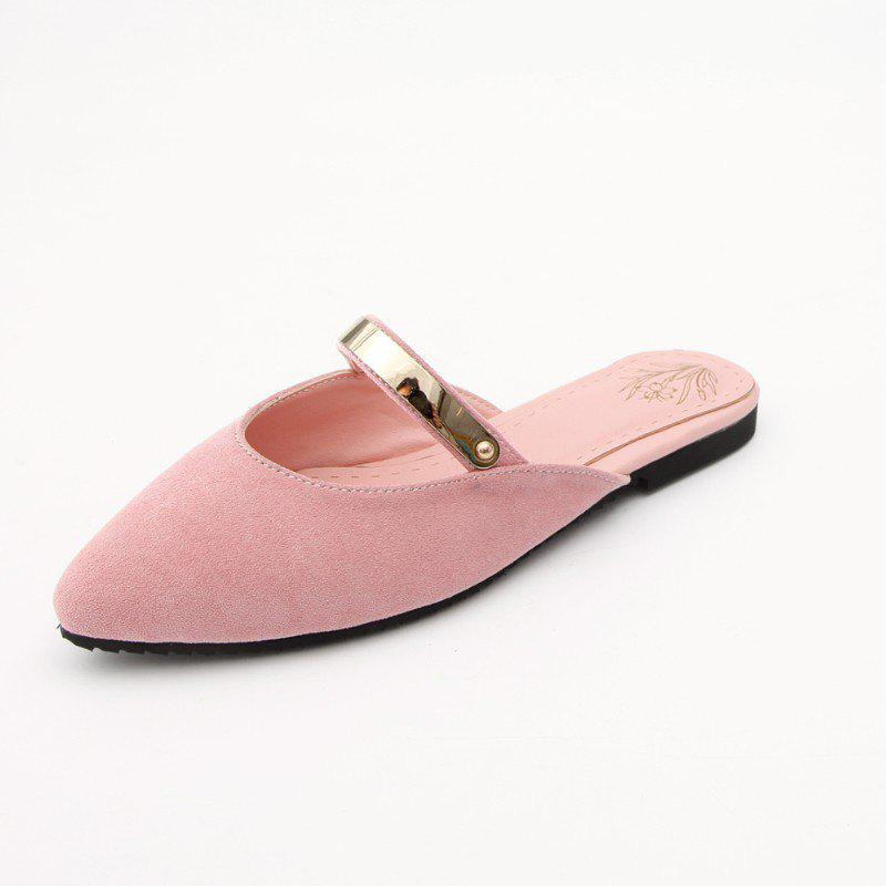 Latest Summer Stylish Suede Metallic Sweet Cool Slippers