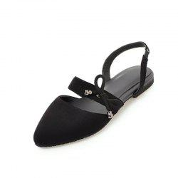 Comfortable Sweet Bow Shaped Pointed Flat Sandals -