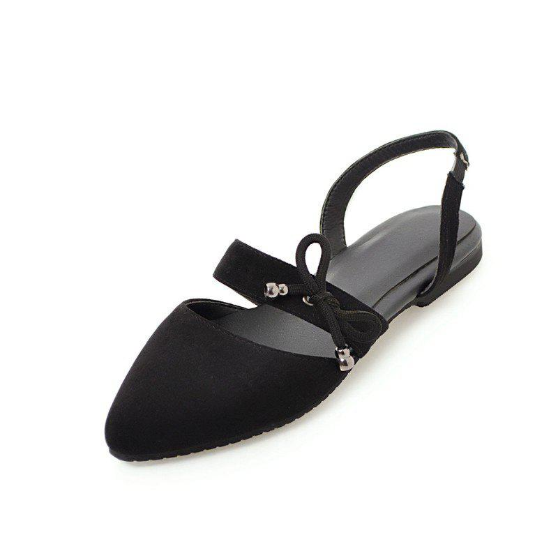 Fancy Comfortable Sweet Bow Shaped Pointed Flat Sandals
