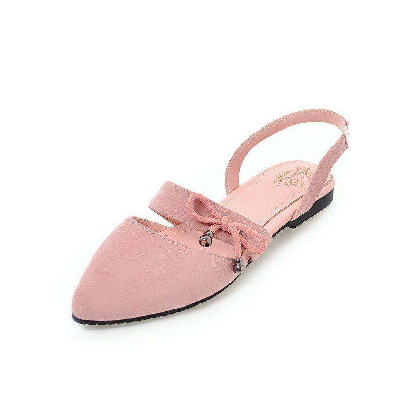 Online Comfortable Sweet Bow Shaped Pointed Flat Sandals