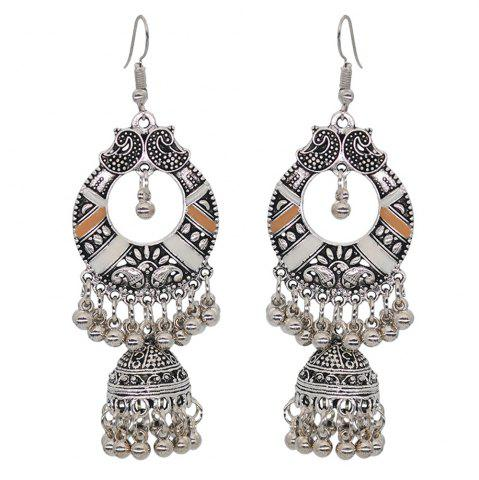 Bohemian Metal Carved Vintage Palace Hollow Bell Earrings