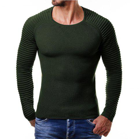 Pull homme col rond manches courtes